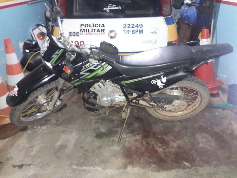 PM recuperou em Dores de Campos moto roubada em Carandaí